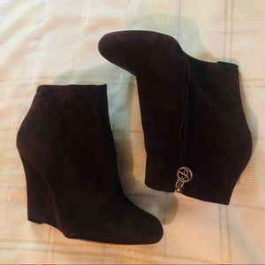 Sam Edelman Wilma Suede Wedge Bootie, Brown